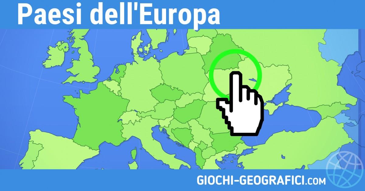 Giochi Geografici Giochi Geografia Paesi Dell Europa