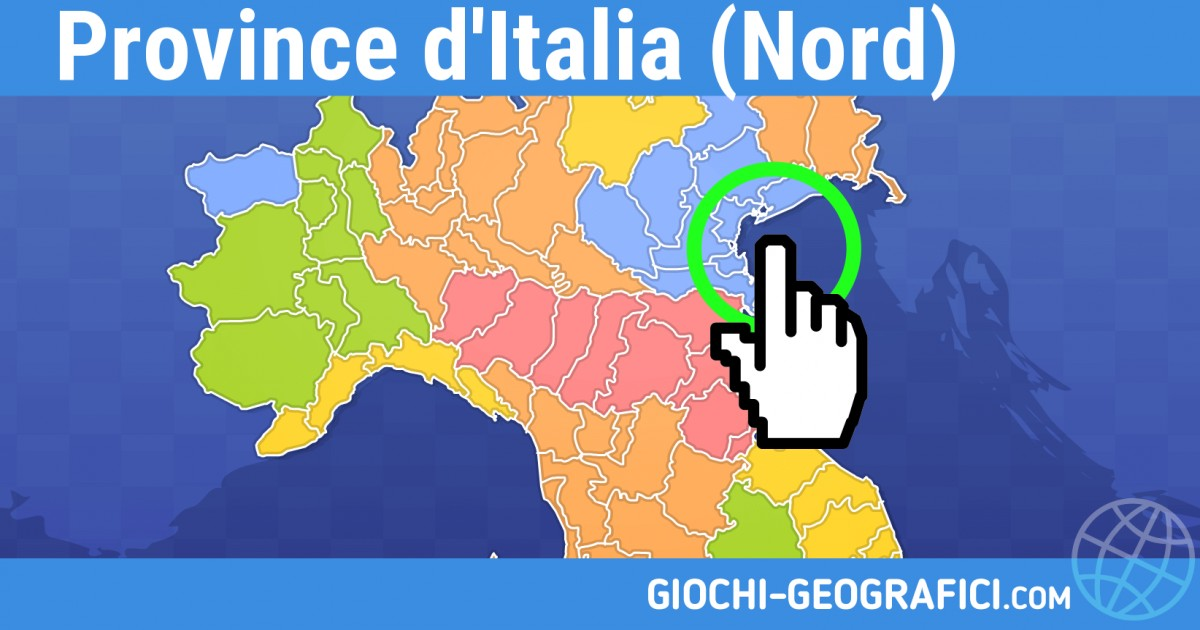 Province Nord Italia Cartina.Giochi Geografici Giochi Geografia Province Italia Nord